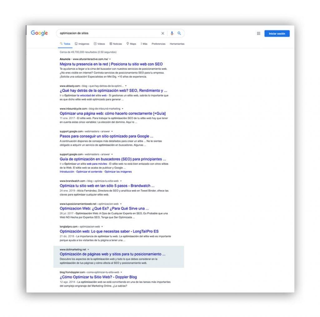 seo optimización de páginas