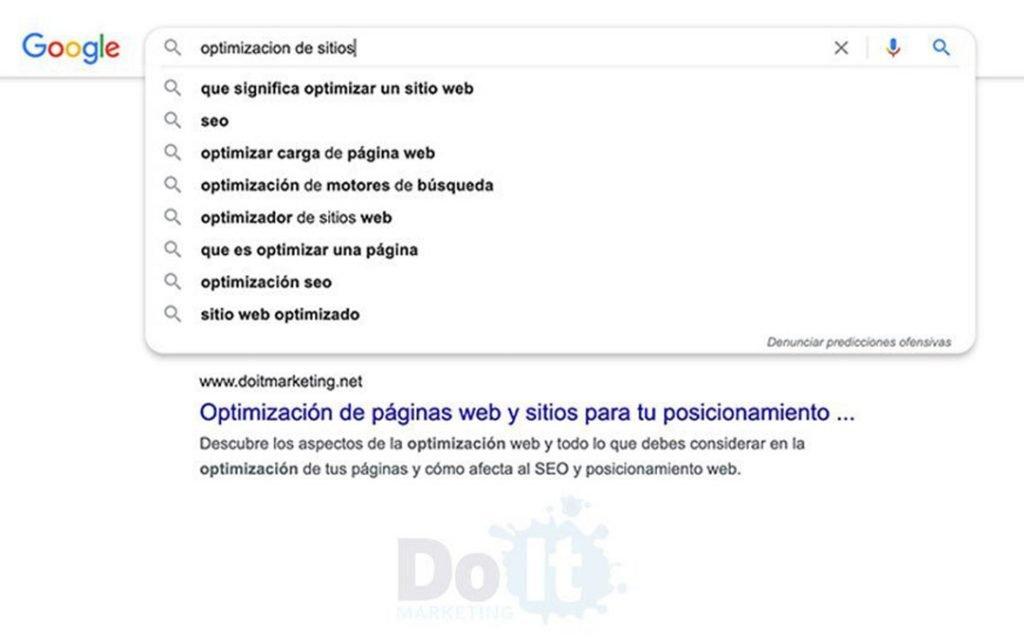 optimizar un sitio web búsqueda Google